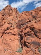 Rock Climbing Photo: A good view of Black Corridor with Hunter S. Thomp...