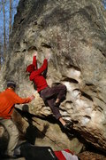 Rock Climbing Photo: Adrian through the crux of Wasp