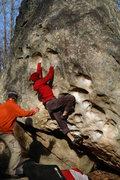 Rock Climbing Photo: Adrian through the crux of Wasp