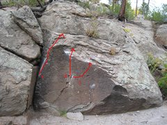 Rock Climbing Photo: Anything that looks like a hold above the flat fac...