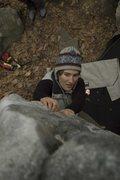 Rock Climbing Photo: Doni at the sidepull