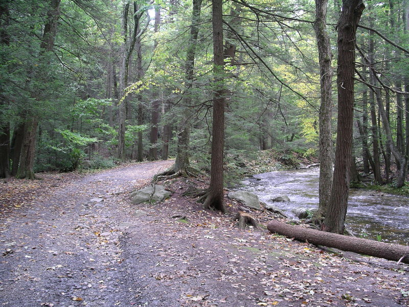 Carriage Road and Awosting Creek, just downstream from Awosting Falls,