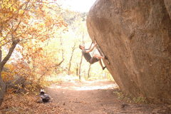 Rock Climbing Photo: Warming up in fall at the pass.  Nothing like taki...