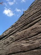 Rock Climbing Photo: The 1st pitch of Peregrine...photo by Mike Cork.