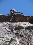 Rock Climbing Photo: Josh making the roof move on Bring Me a Bucket (No...