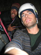 Rock Climbing Photo: Pat and Trevor still strapped to the belay at 9pm ...
