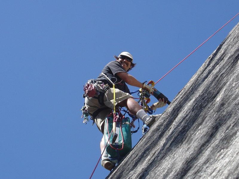 Rock Climbing Photo: saucer full of secrets bolt replacement!