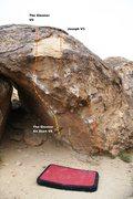 Rock Climbing Photo: Gleaner Boulder Topo