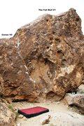 Rock Climbing Photo: Corner Boulder South West Face Topo