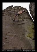 "Rock Climbing Photo: Sean on ""The Uprising"""
