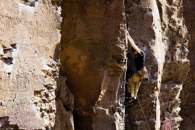 Rock Climbing Photo: Mark on Don Coyote (5.8)