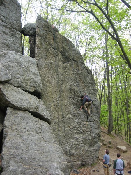 Rock Climbing Photo: The Bulge follows the left hand toprope.