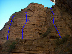 Rock Climbing Photo: Quartzite Wasteland, Glenwood Canyon. 1 - Left Pro...