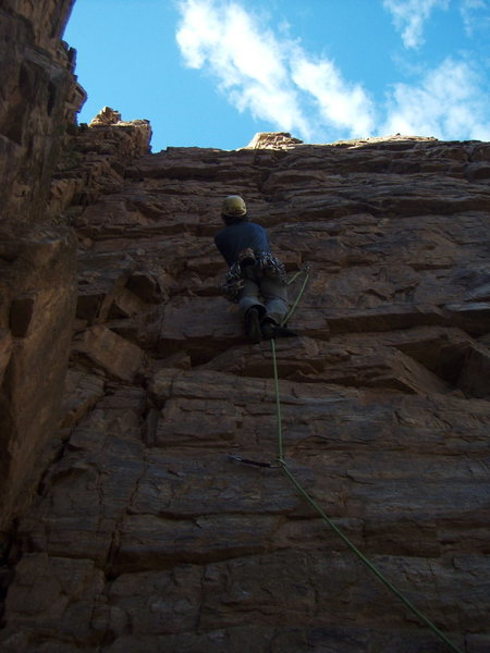 Rock Climbing Photo: FA of Charcoal Burger Daydream at the Quartzite Wa...