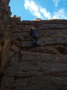 Rock Climbing Photo: FA of Charcoal Burger Daydream at the Quartzite Wa...