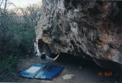 Rock Climbing Photo: Jeff Russell bouldering the V2-ish line starting t...