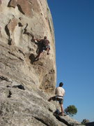 Rock Climbing Photo: Hoskins starting out on Scream Cheese