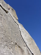 Rock Climbing Photo: Nearing the top of Rye Crisp.  I love how long the...