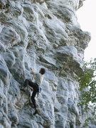 Rock Climbing Photo: Ben starting up the steeps.