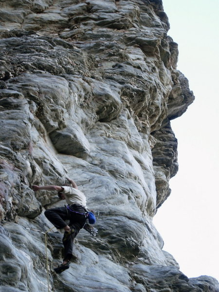 Rock Climbing Photo: Heading up into the dihedral.