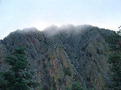 Rock Climbing Photo: Main Brazos Cliffs from the approach hike.  The Ca...