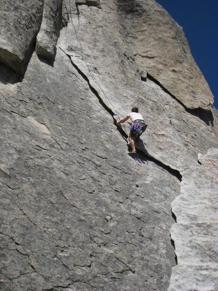 Rock Climbing Photo: John H on Rye Crisp