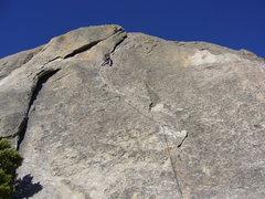 Rock Climbing Photo: Hoskins leading Wheat Thin