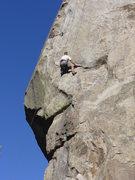 "Rock Climbing Photo: Me working the ""car door handle"" on Skyl..."