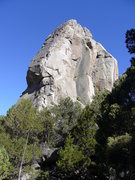 Rock Climbing Photo: Hoskins Leading Skyline