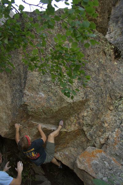 Rock Climbing Photo: Kyle Davis getting a glimpse