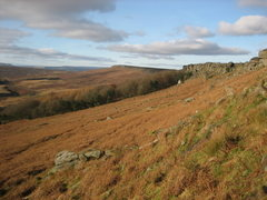 Rock Climbing Photo: Looking towards Stanage Plantation