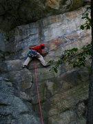 Rock Climbing Photo: Bill making it happen on Disneyland