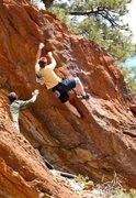 Rock Climbing Photo: Joel Donalson fires the FA of Experimental Procedu...