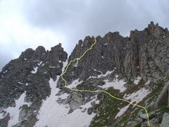 Rock Climbing Photo: North Face route on Jagged Mountain.  Photo taken ...