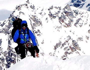 Rock Climbing Photo: West Ridge-  Mt Hunter Alaska
