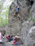 Rock Climbing Photo: Chossy's Nice Twin.