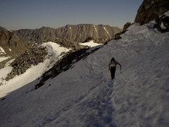 Rock Climbing Photo: Traversing the glacier is an easy stroll in early ...
