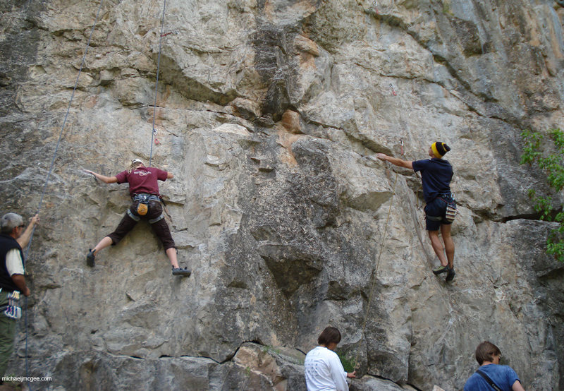 Climbers on Sellers (l) and Pryor (r).