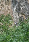 Rock Climbing Photo: Enjoying V.