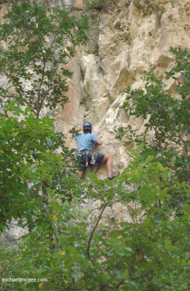 Rock Climbing Photo: Just past C2.