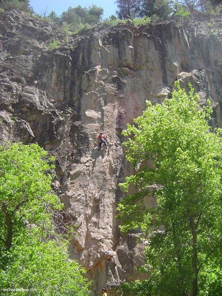 Rock Climbing Photo: Cruisin' the sunny Satch in June.