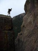 Rock Climbing Photo: It's a long way down.