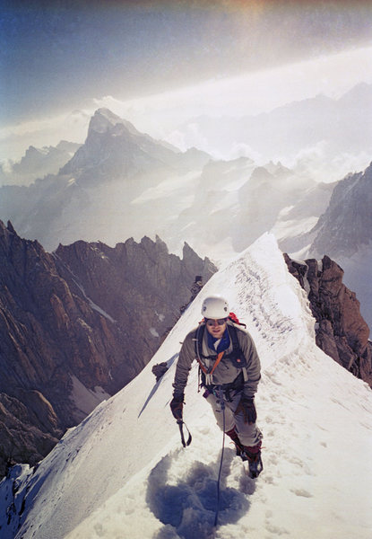 Rock Climbing Photo: Kuffner Ridge, Mount Maudit