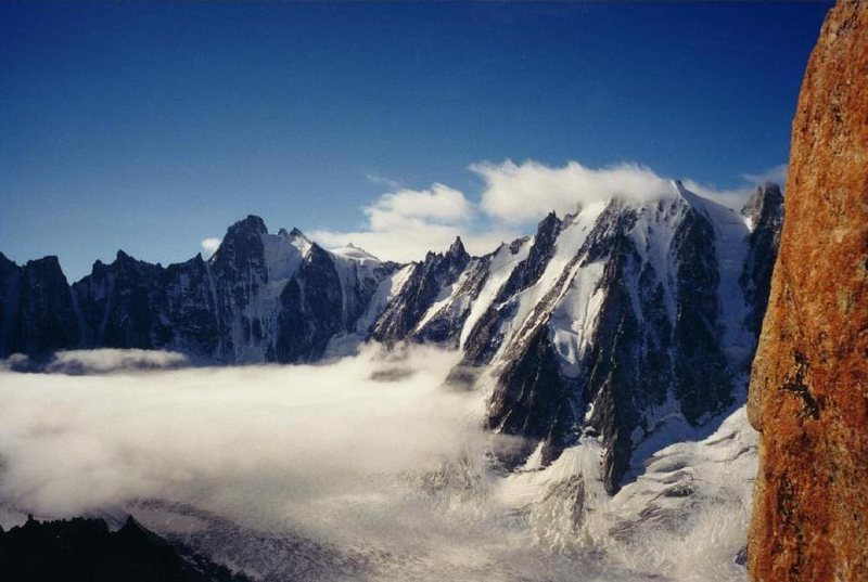 Rock Climbing Photo: Argentiere Glacier from the Minarette.