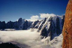 Rock Climbing Photo: Argentiere Glacier from the Minarette.