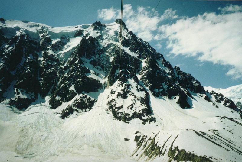 Rock Climbing Photo: Aiguille du Midi, North Face