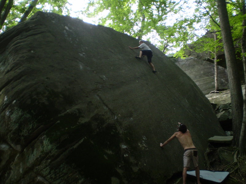 Rock Climbing Photo: Jackson Falls Yosemite slab