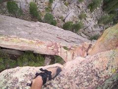 Rock Climbing Photo: Looking doooowwwwwnnnn.