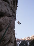 Rock Climbing Photo: How steep??? About this steep. Butter's pitch