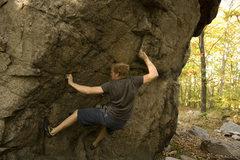 Rock Climbing Photo: Brendoom on V5 at Ames Boulder.